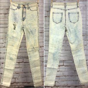 🌻Sz 9/Jegging/Jeans/Vibrant/Destroyed Hi Rise